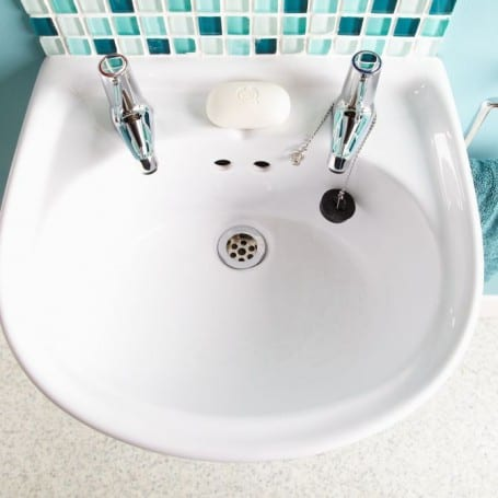 2 Tap Hole Washbasin (450mm wide)