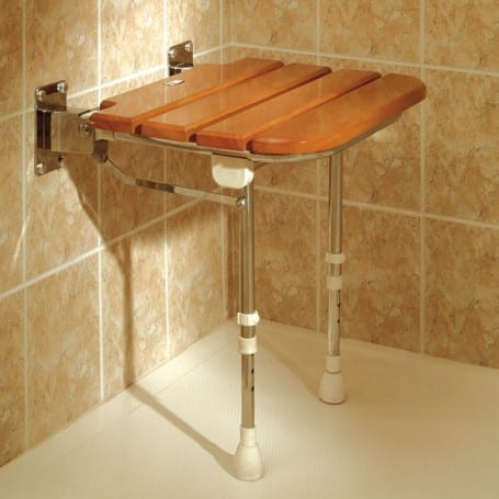 Wooden Slatted Shower Seats Akw