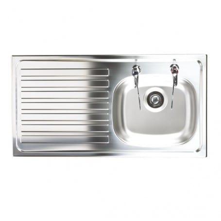 Pillar Tap Sink – Bowl Depth 127mm | AKW